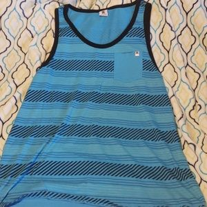 DC blue and black 1 pocket tank top. size XXL